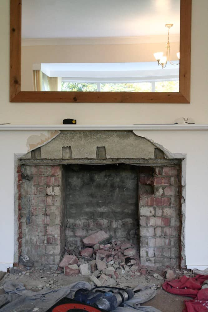 fireplace out of cardboard recycling