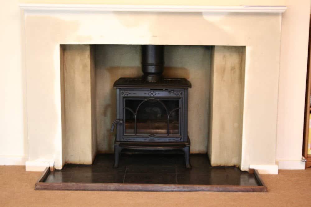 how to clean a black fire wood burners
